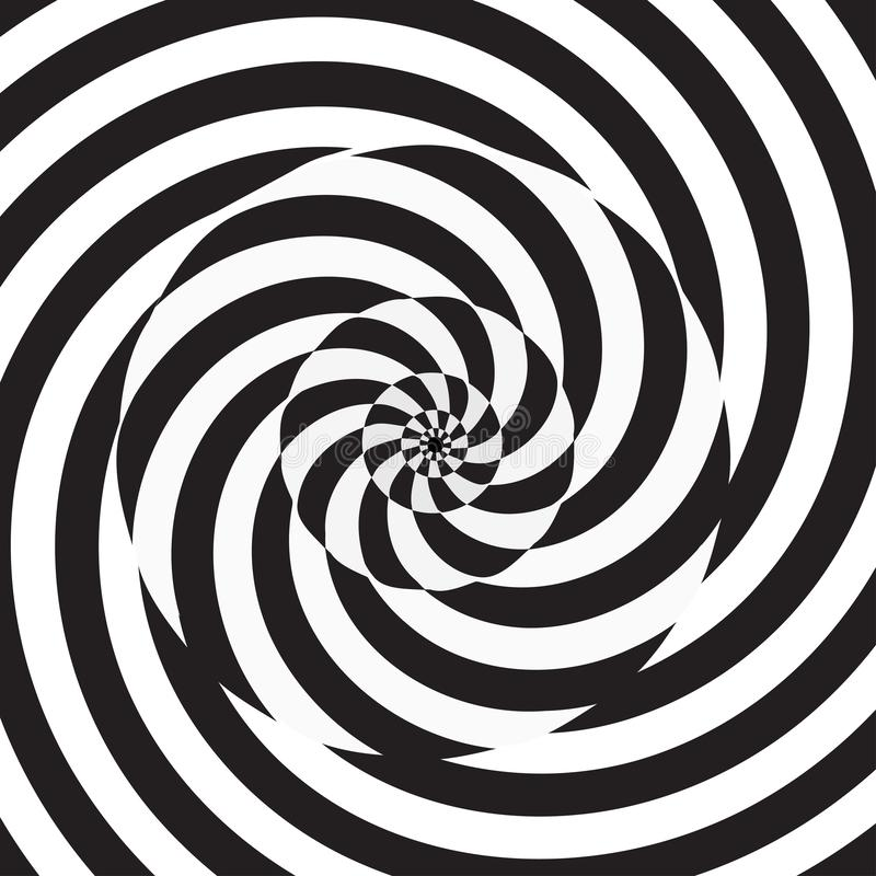 Circular spiral black and white background. Monochrome circular spiral black and white background. Vector illustration for your graphic design vector illustration