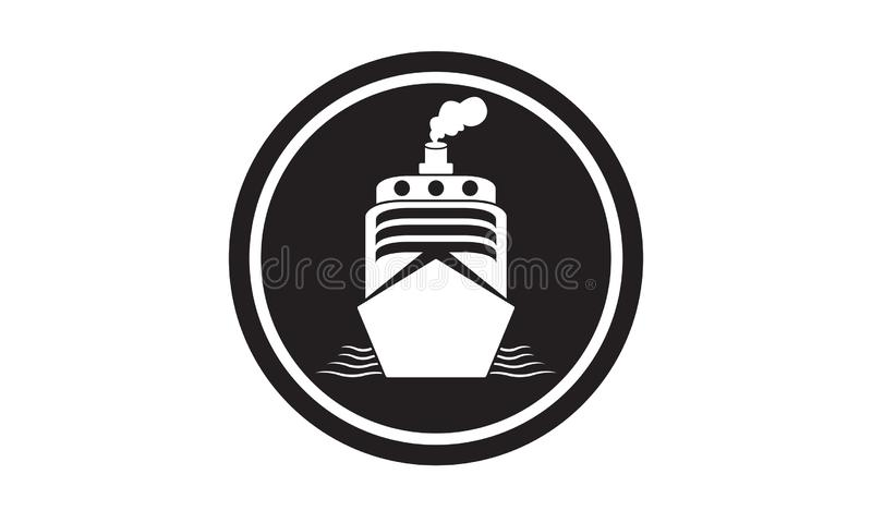 Ship sea ​​port icon simple and elegant stock illustration