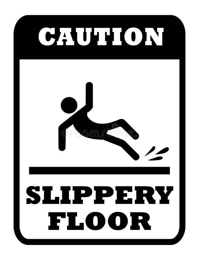 Slippery floor sign royalty free illustration