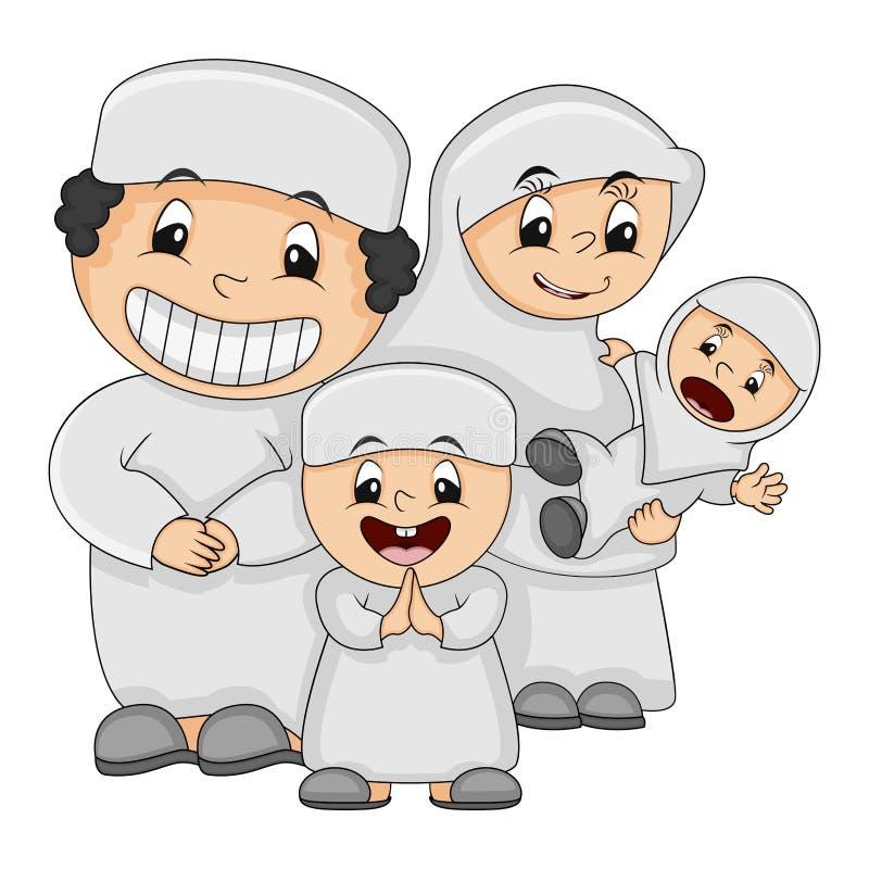 Muslim happy family  cartoon vector illustration vector illustration