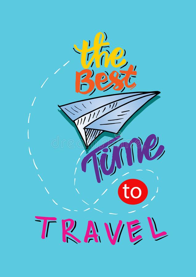 The best time to travel. vector illustration