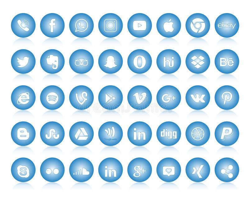 Set of popular social media logos, icons facebook instagram twitter whatsapp. Set popular social media logos icons facebook ins instagram twitter whatsapp in stock illustration