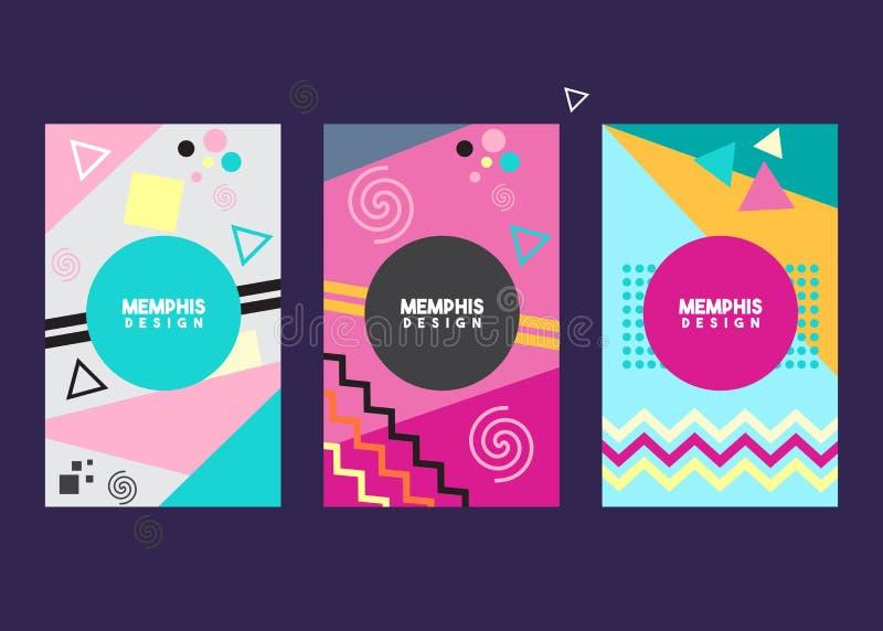 Memphis style background template design vector illustration