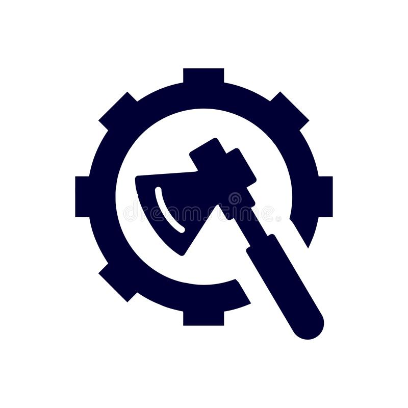 Work, spanner, repair, hammer, wrench, industry, construction, screwdriver, settings, equipment, service, maintenance, ax icon. Icon tools vector work icons stock illustration
