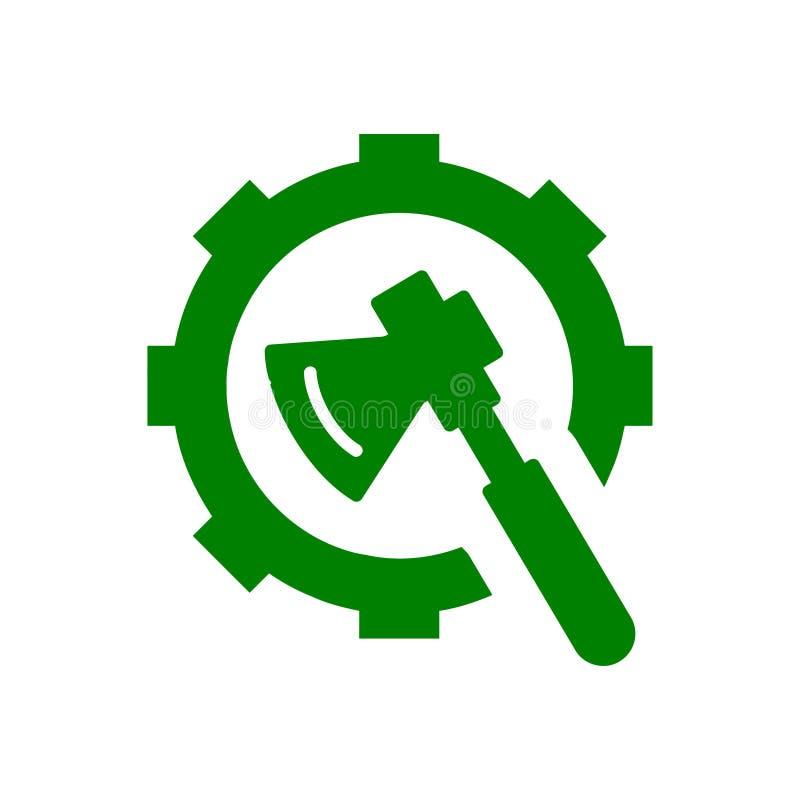 Spanner, repair, hammer, wrench, industry, construction, screwdriver, equipment, service, maintenance, ax, gear, work tool icon. Work spanner repair fork hammer stock illustration