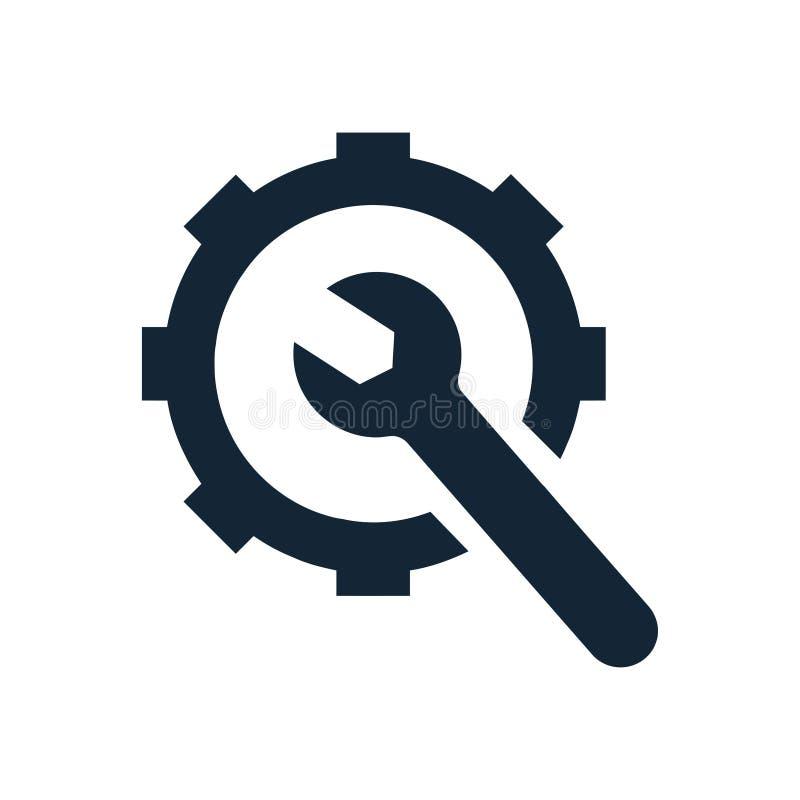 Spanner, repair, hammer, wrench, industry, construction, screwdriver, equipment, service, maintenance, ax, gear, work tool icon. Work spanner repair fork hammer vector illustration