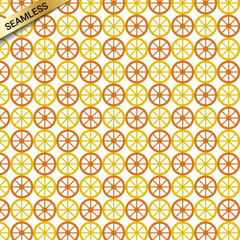 Seamless vector repeating pattern with oranges and lemons in endless background texture. Textile printing and wrapping paper or gift paper, clothes towels etc stock illustration
