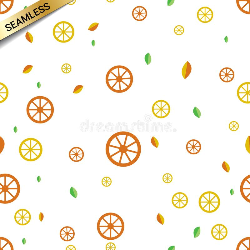 Seamless vector repeating pattern with oranges and lemons. Textile printing and wrapping paper or gift paper, clothes towels etc royalty free illustration