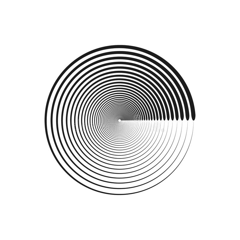 Concentric circle line ring background stock illustration