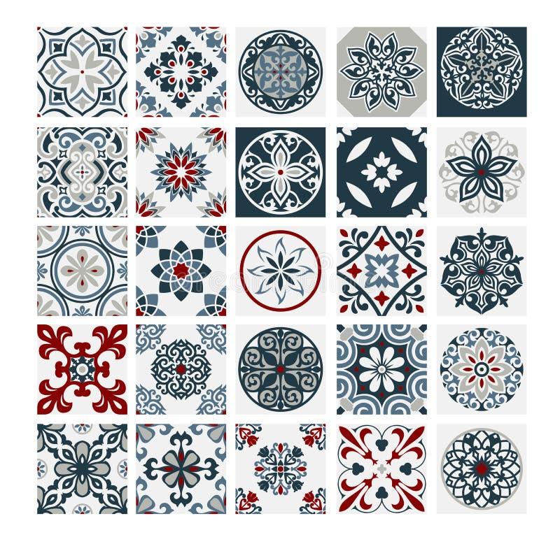 Tiles Portuguese patterns antique seamless design in Vector illustration vintage. Vintage eps vector illustration
