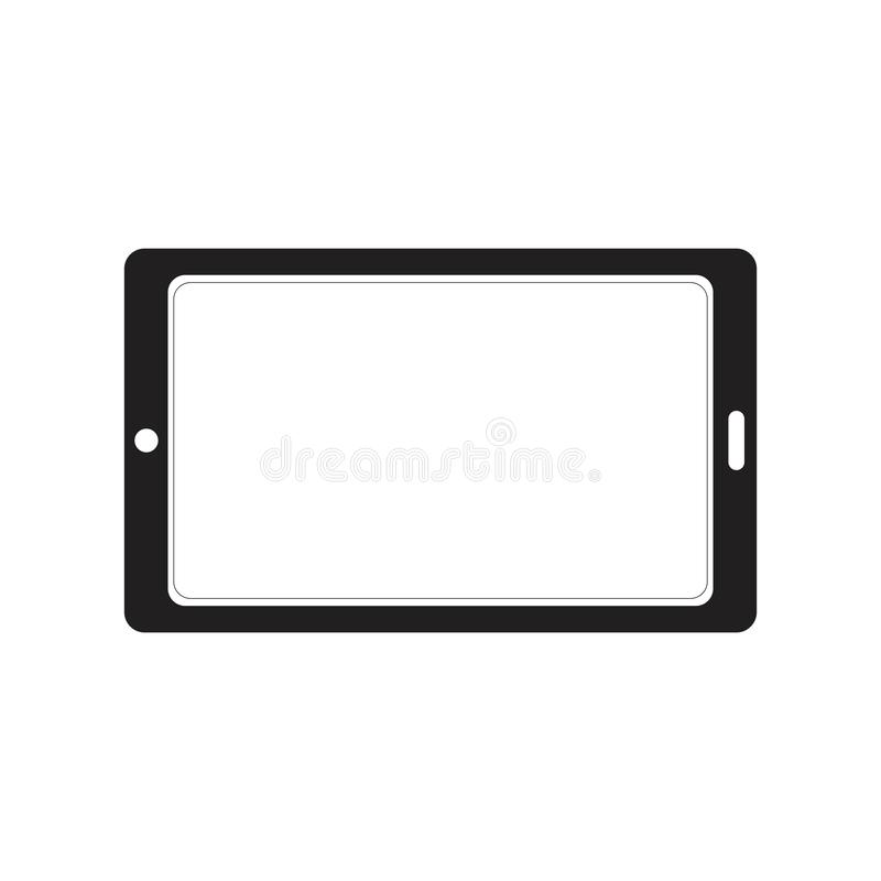 Tablet silhouette icon logo concept stock illustration