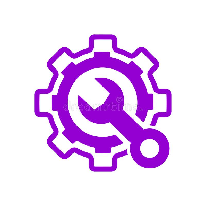 Spanner, repair, hammer, wrench, industry, construction, screwdriver, settings, equipment, service, maintenance, work tool icon. Work spanner repair hammer stock illustration