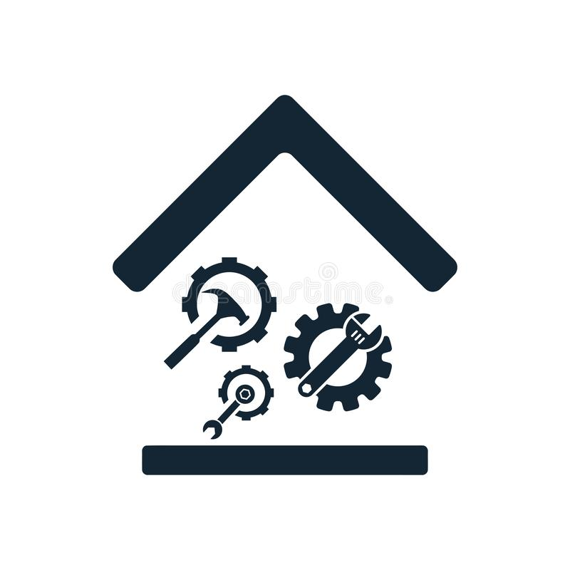 Spanner, repair, hammer, wrench, industry, construction, screwdriver, settings, equipment, service, maintenance, work tool icon. Work spanner repair hammer vector illustration