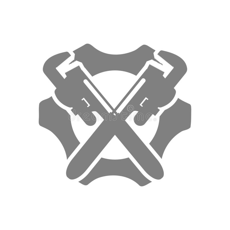 Spanner, repair, wrench, industry, screwdriver, gear, settings, equipment, service, maintenance, work tool green color icon. Work spanner repair hammer wrench stock illustration