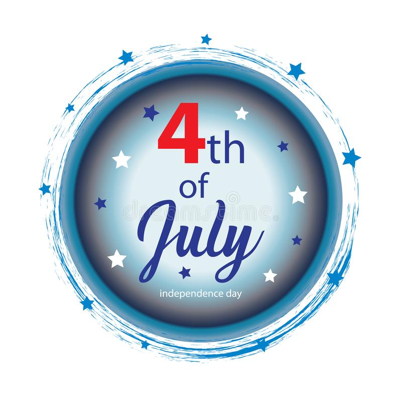 Independence Day Sign, 4th of July. Independence Day in the United States of America vector illustration