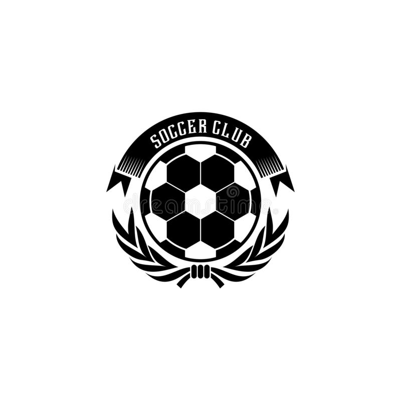 Soccer football club logo design which can be used for juvenile or senior team of football vector illustration