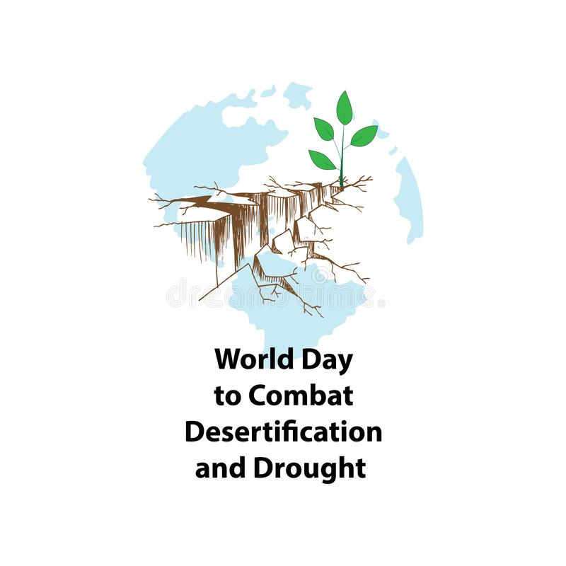 World Day to Combat Desertification and Drought royalty free illustration