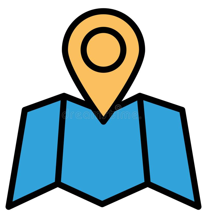 Exact location Isolated Vector Icon which can easily modify or edit stock illustration