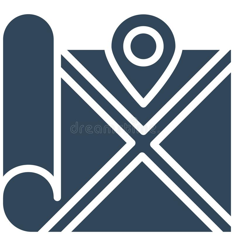 Address navigator Isolated Vector Icon which can easily modify or edit stock illustration