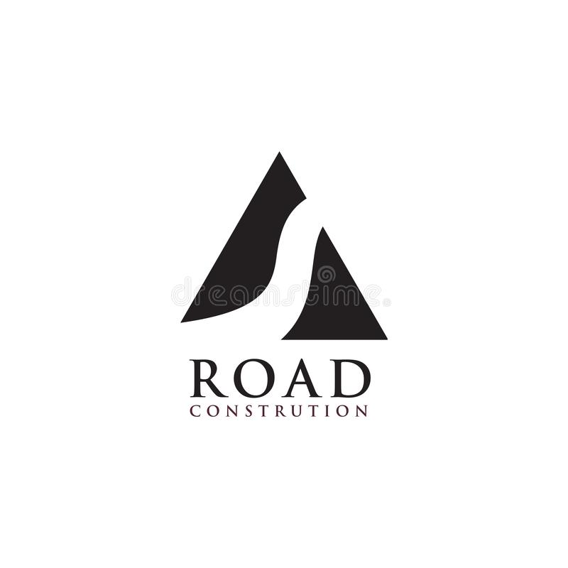 Road logo design vector template royalty free illustration