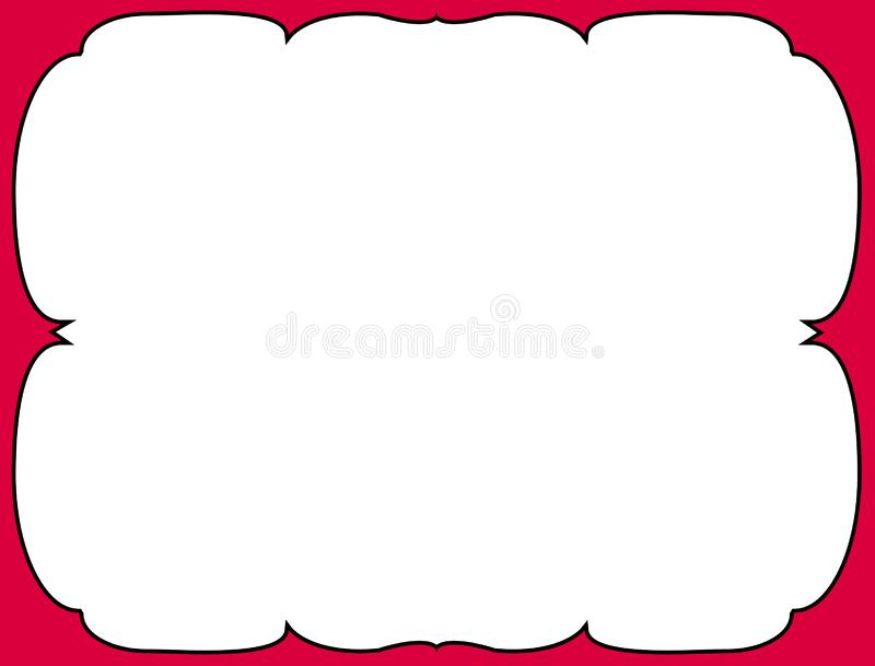 Curly colored border. Illustration with space for text vector illustration