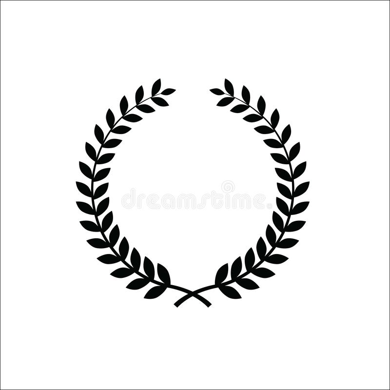 Laurel wreath icon. An illustration of a laurel wreath icon on white background royalty free illustration