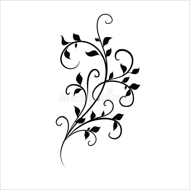 Stock vector set of floral elements for design stock illustration