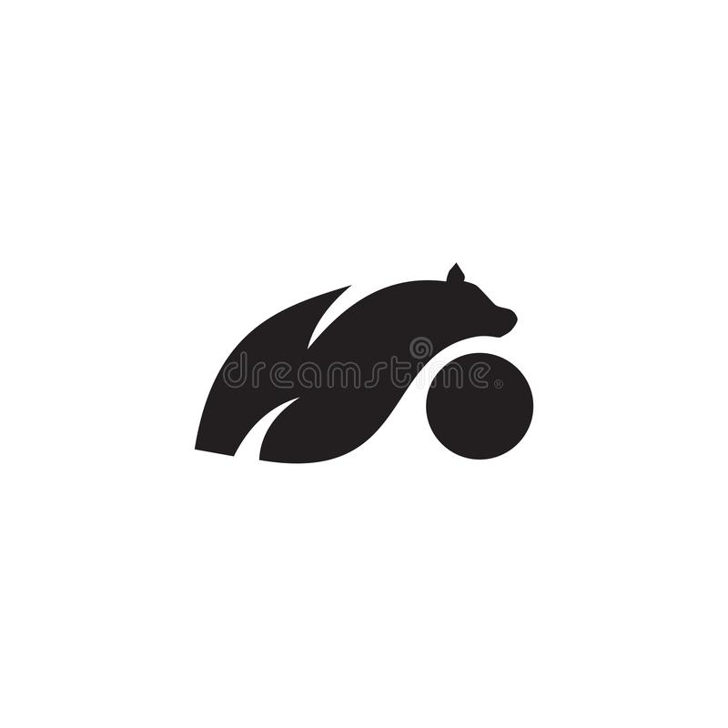 Polar bear icon logo design vector illustration