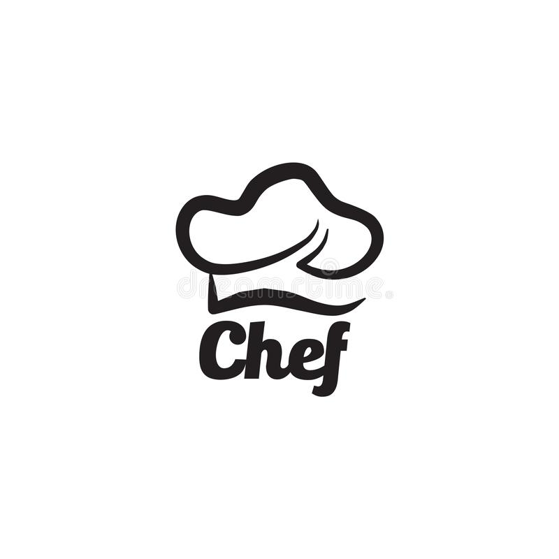 Chef hat logo design vector template vector illustration