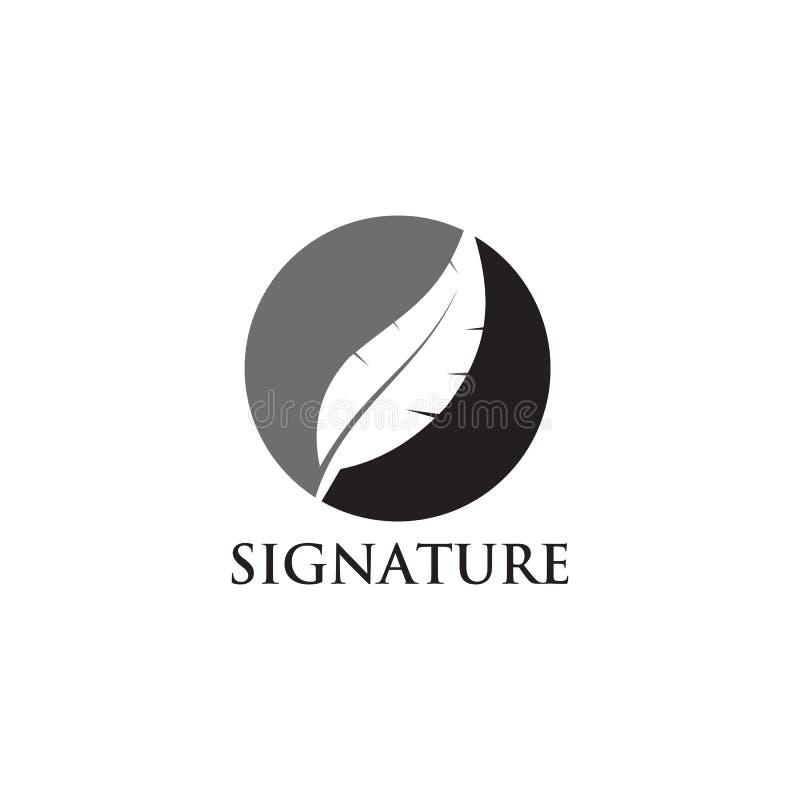 Feather pen logo design vector template vector illustration