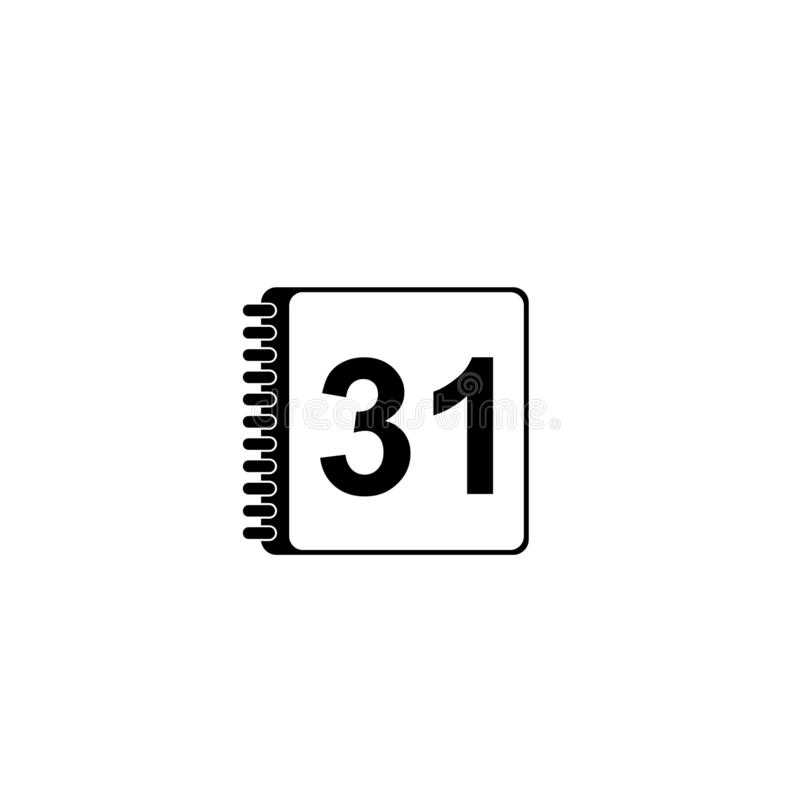 Calendar Icon vector design. This is a Vector Calender icon royalty free illustration