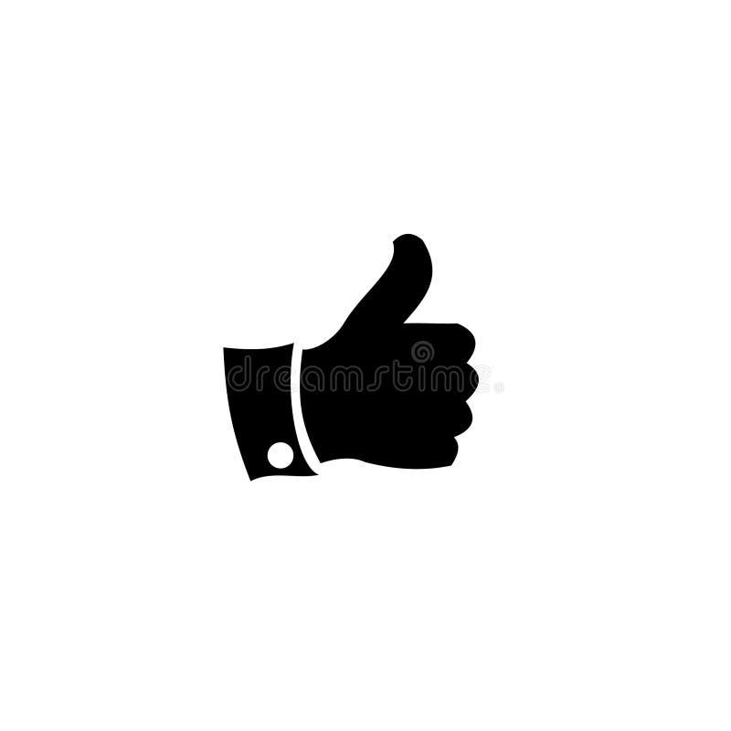 Hand Like Finger Vector icon. This is Fingers like for social media vector illustration