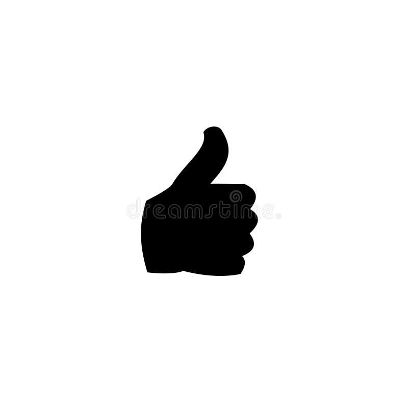 Finger Like icon vector. Finger like vector for social media vector illustration