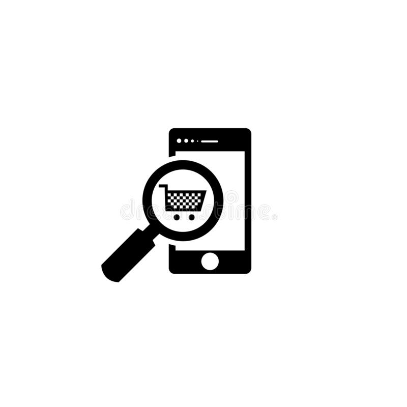 Search Online Shop Vector icon. This is Online Shop vector icon for digital  design vector illustration