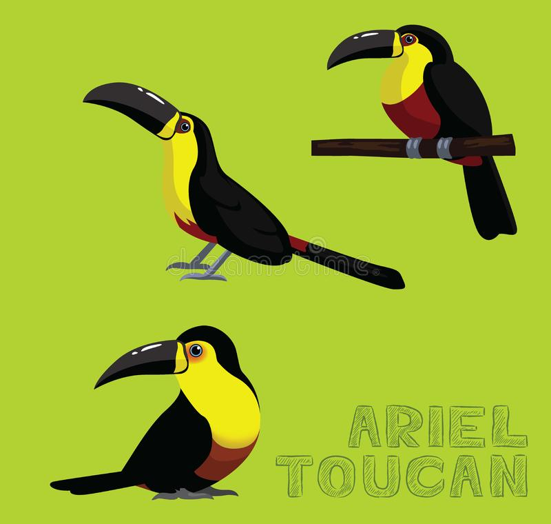 Bird White Ariel Toucan Cartoon Vector Illustration. Animal Cartoon EPS10 File Format vector illustration