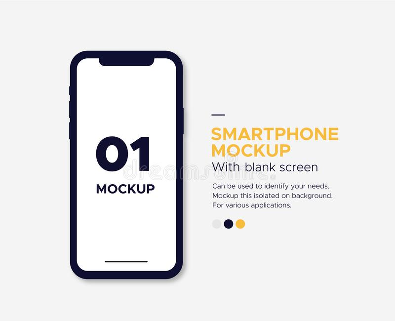 Iphone x mockup banner with blank screen. Isolated on background. Can be used to identify your needs. Mockup this isolated on background. For various stock illustration