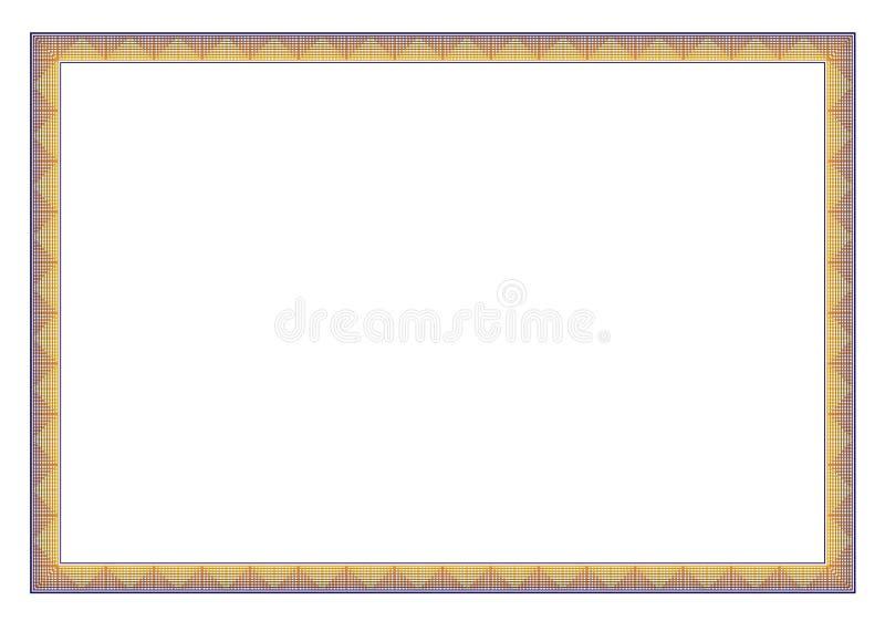 Horizontal Frame for certificate border royalty free stock photo