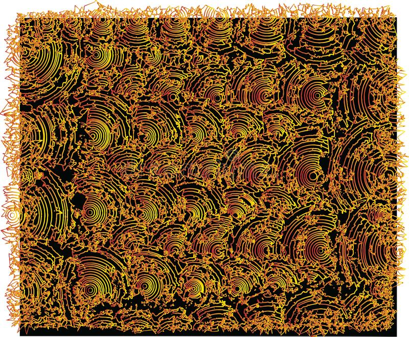 Humpy textures, Gold colors. Great good lhumpy textures stock illustration