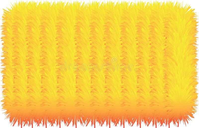 3D colorful hairy lines. 3D colorful hairy texture lines stock illustration