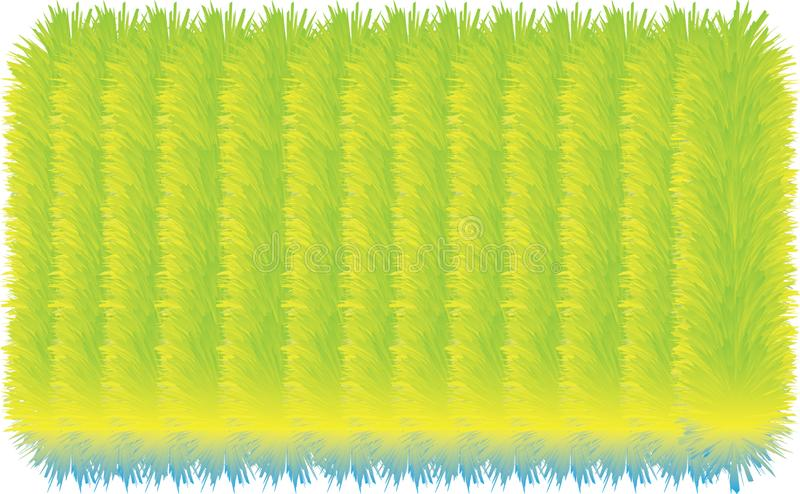 3D colorful hairy lines. 3D colorful hairy texture line royalty free illustration