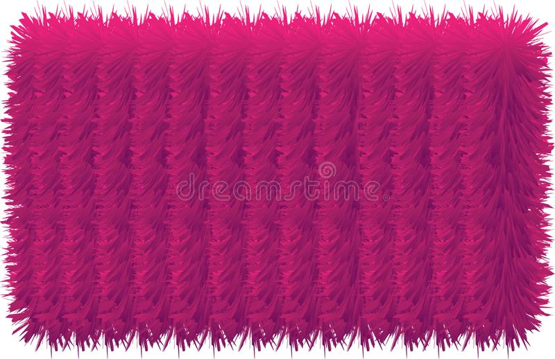 3D colorful hairy lines. 3D colorful hairy texture line stock illustration