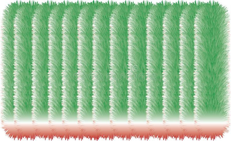 3D colorful hairy lines. 3D colorful hairy texture line without end vector illustration