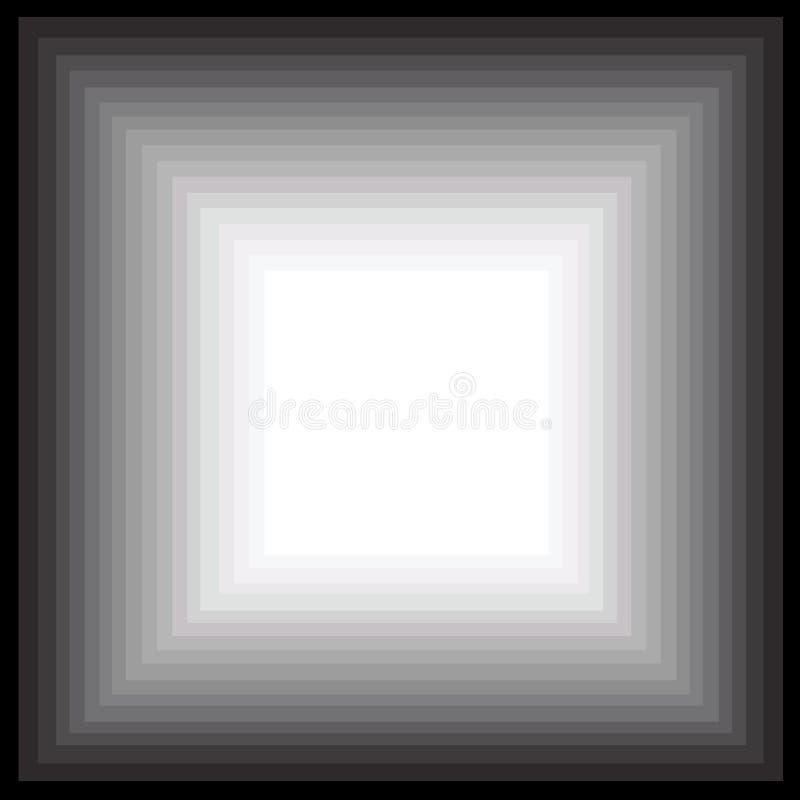Falling down? or an infinite corridor vector illustration