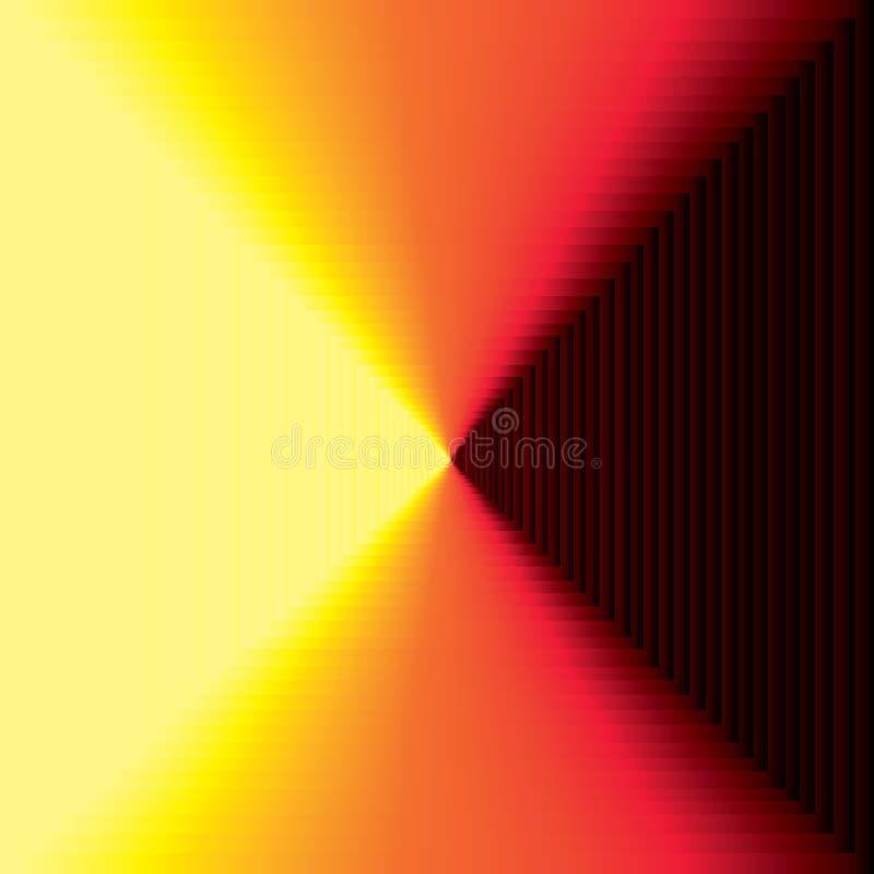 Falling down? or an infinite corridor royalty free illustration