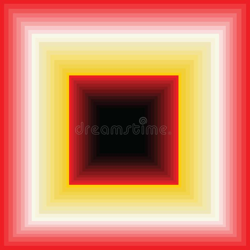 Falling down? or an infinite corridor vector illustration