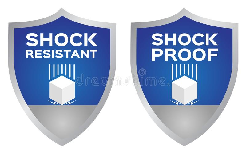 Shock resistance icon . vector. Shock resistance icon . vector on white royalty free illustration