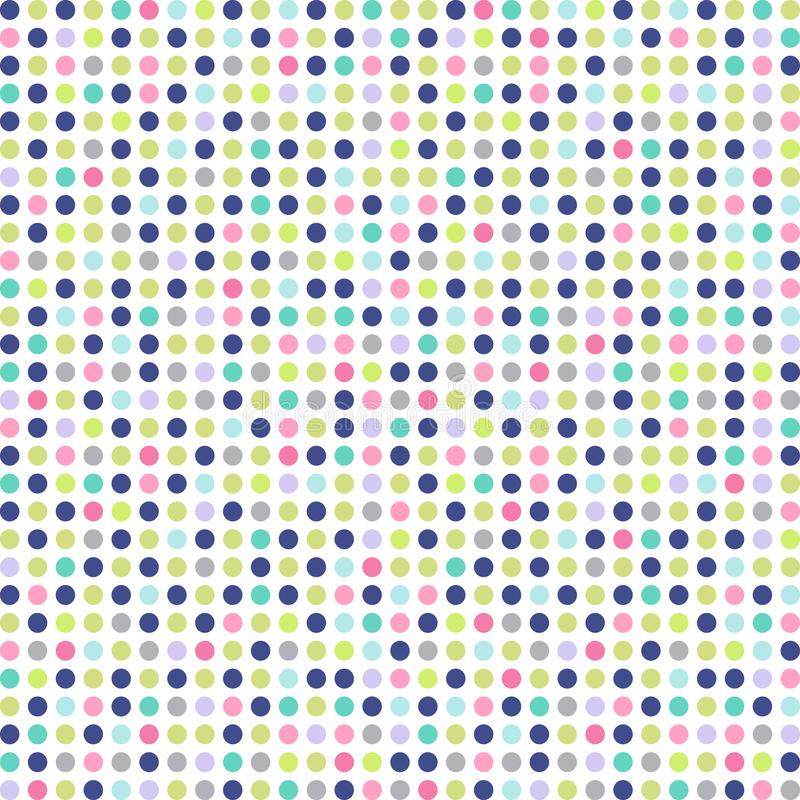 Seamless vector pattern with dots. Colorful background. Seamless vector illustration pattern with dots. Colorful background stock illustration
