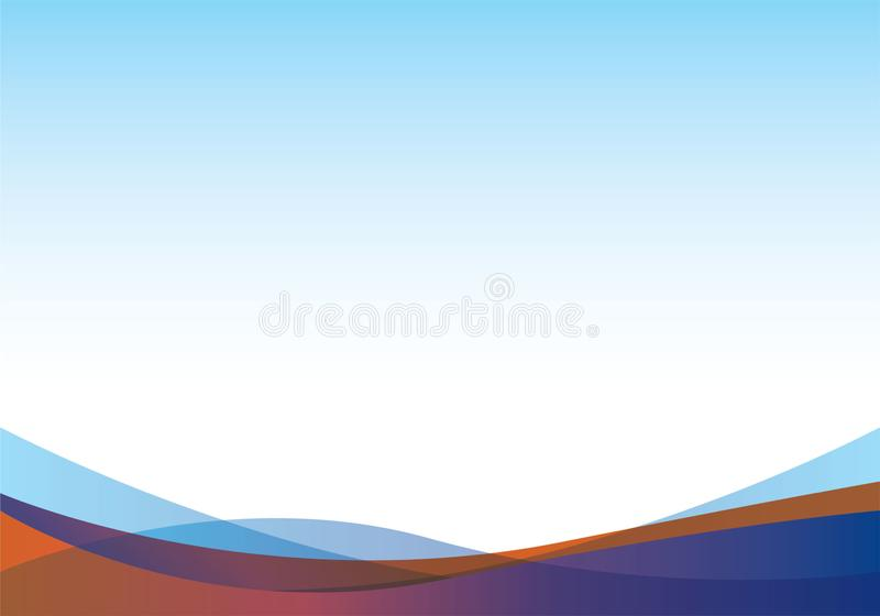 Abstract white and blue wave background royalty free illustration