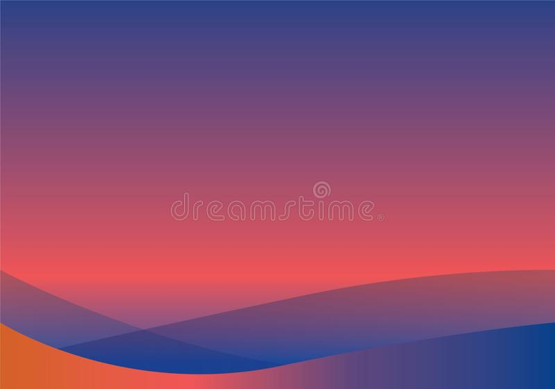 Abstract white and blue wave background stock illustration