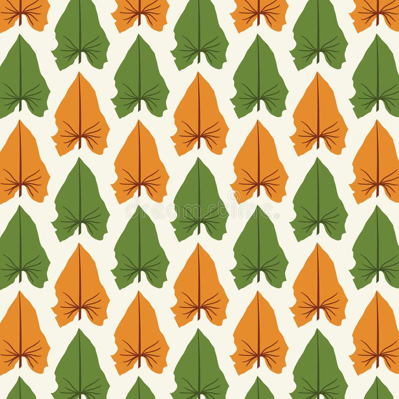 Print Abstract Leaves Pattern vector stock illustration